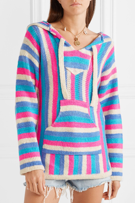 The Elder Statesman Baja striped cashmere hoodie