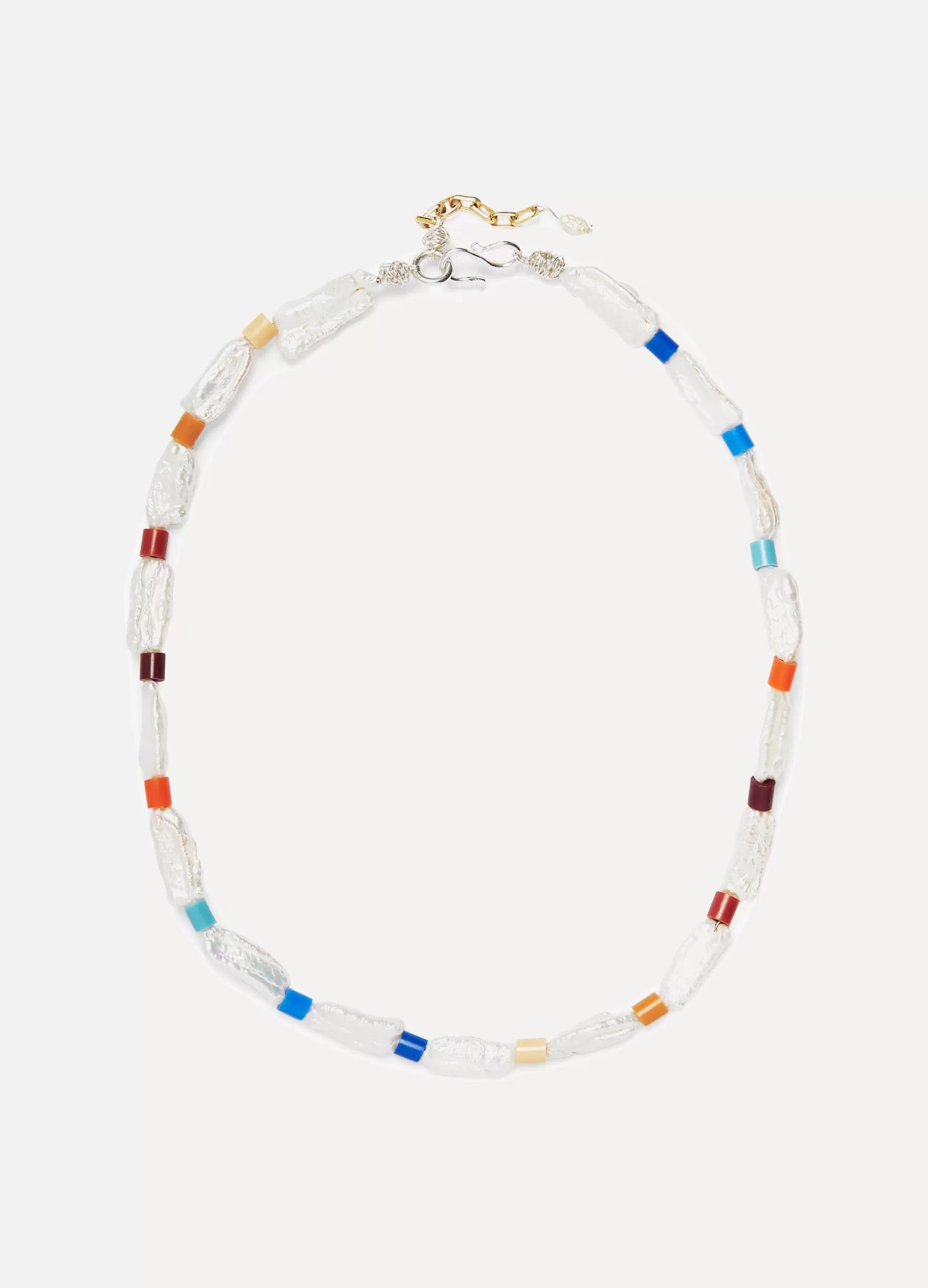 WALD Berlin Genie In A Bottle pearl and beaded necklace