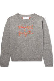 Ages 2 - 6 Original Gangsta embroidered cashmere sweater