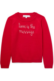 Ages 2 - 6 Love Is The Message embroidered cashmere sweater