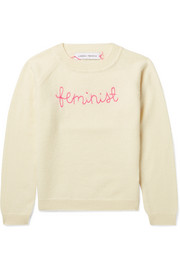 Ages 2 - 6 Feminist embroidered cashmere sweater