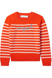 Ages 2 - 6 Respect embroidered striped cashmere sweater