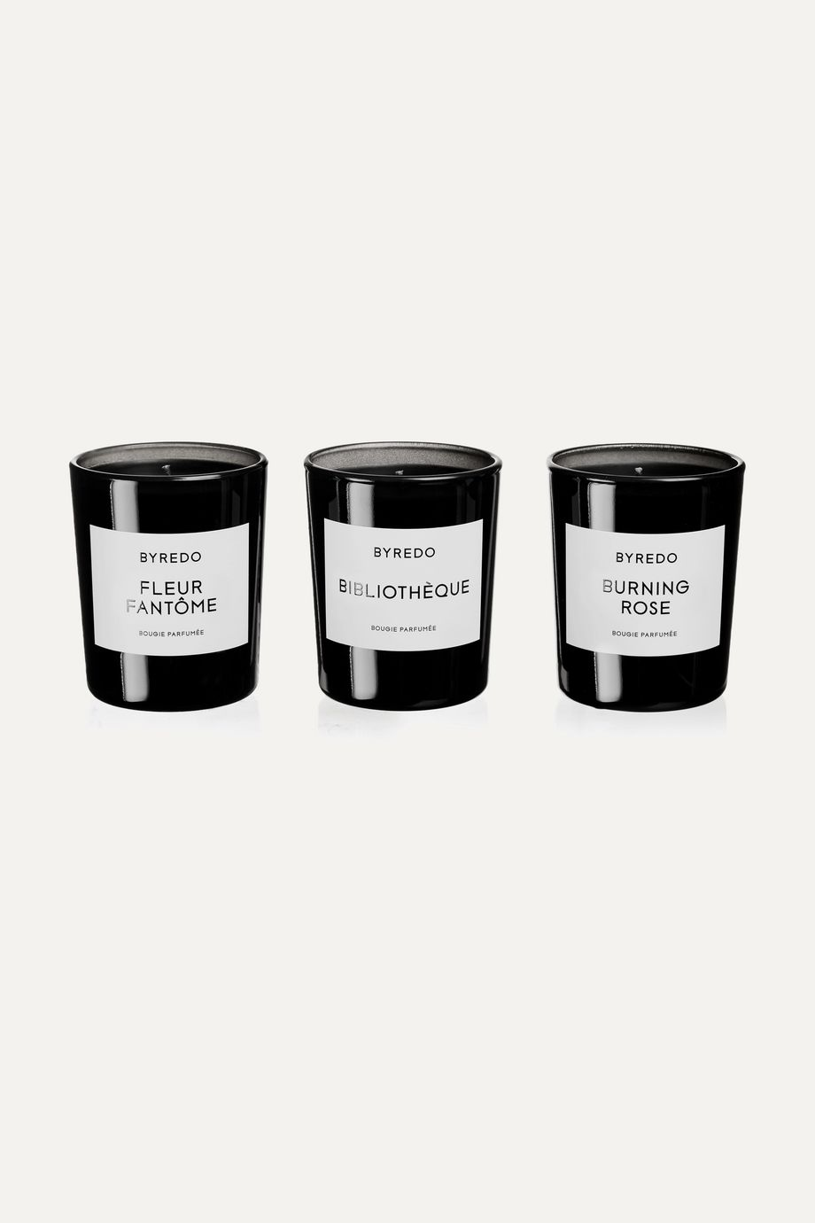 Byredo La Sélection Violette scented candles, 3 x 70g