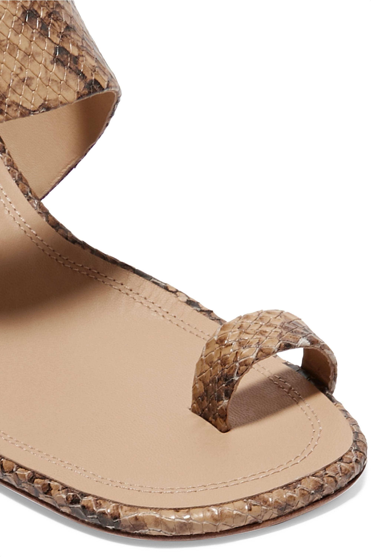 Zimmermann Snake-effect leather sandals