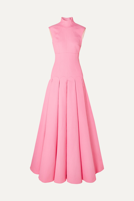 Emilia Wickstead Kingsley open-back pleated cloqué gown