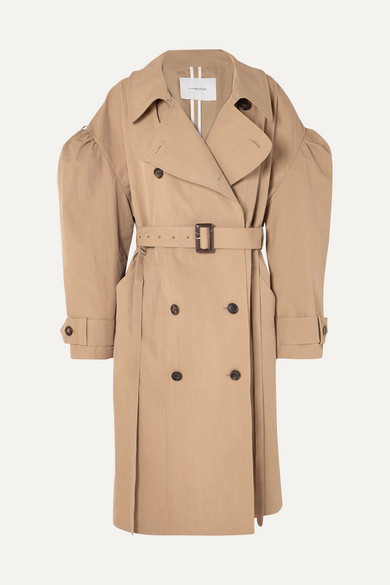 Oversized Cotton Blend Gabardine Trench Coat by Pushbutton