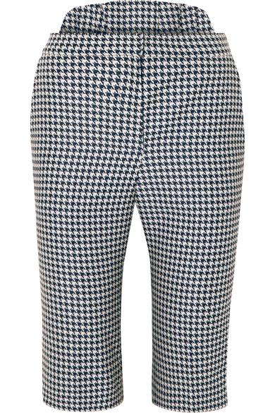 Pushbutton Shorts HOUNDSTOOTH JACQUARD SHORTS