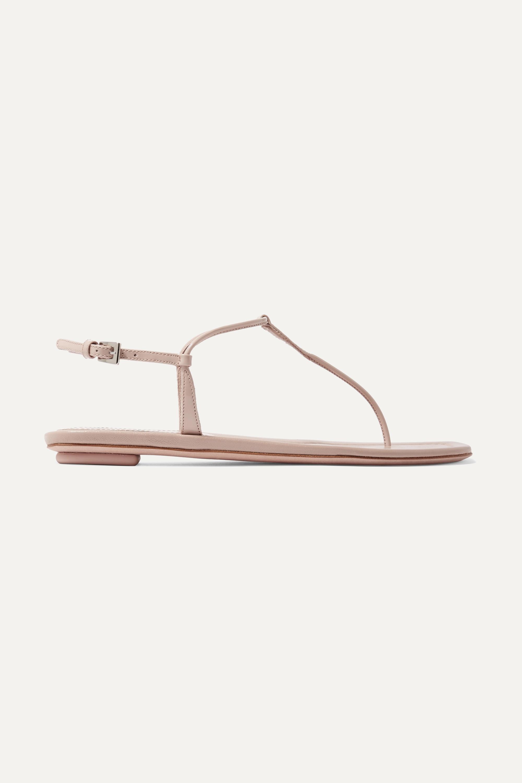 Neutral Patent-leather sandals   Prada