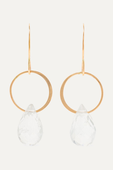 14 Karat Gold Topaz Earrings by Melissa Joy Manning