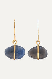 14-karat gold sapphire earrings