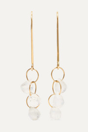14-karat gold moonstone earrings