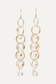 14-karat gold topaz earrings