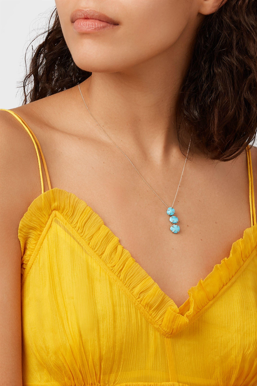 Melissa Joy Manning 14-karat gold turquoise necklace