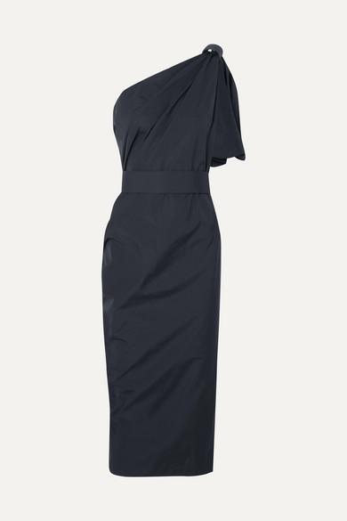Max Mara Dresses Embellished one-shoulder cotton-poplin dress