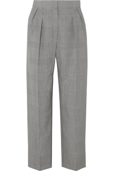 Max Mara Pants Festa cropped Prince of Wales checked wool tapered pants