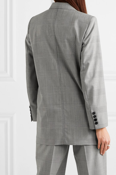 Max Mara Blazers Oxford oversized double-breasted Prince of Wales checked wool blazer
