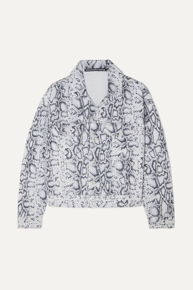 c67b084e4cf7 Alexander Wang | Game snake-print denim jacket | NET-A-PORTER.COM