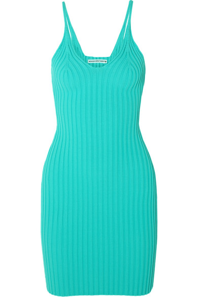 Alexanderwang.t Dresses RIBBED STRETCH-KNIT MINI DRESS