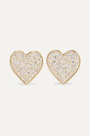 Boucles d'oreilles en or 14 carats et diamants Mini Heart