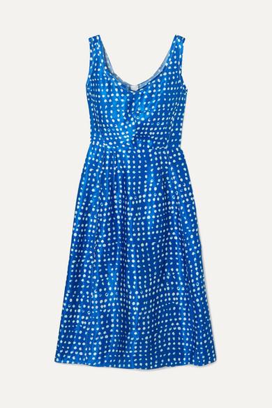 Marni Dresses Polka-dot cupro dress
