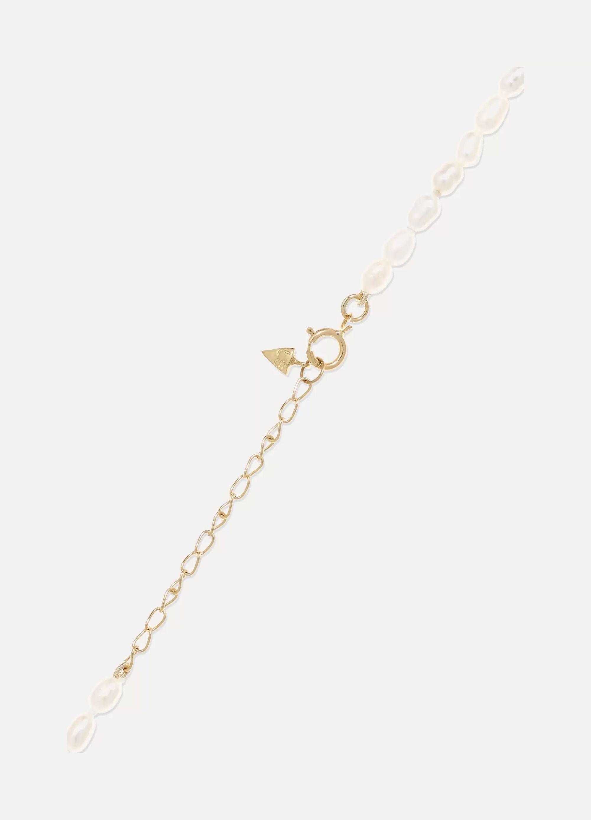Loren Stewart La Dolce Vita gold pearl anklet