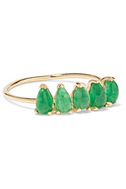 14-karat gold jade ring