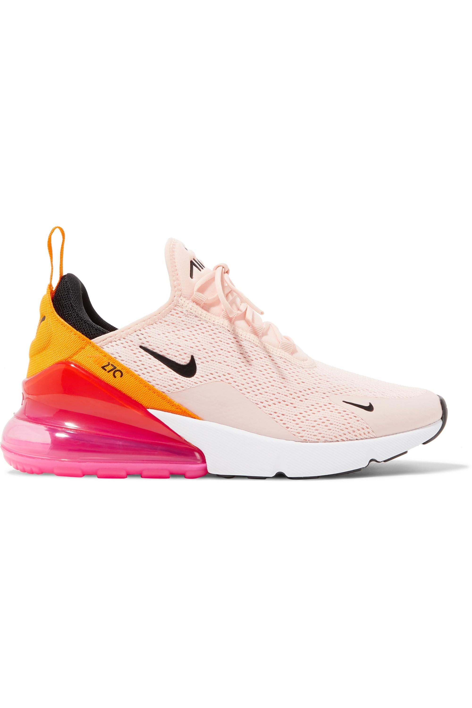 Pastel Pink Air Max 270 Mesh Sneakers Nike Net A Porter