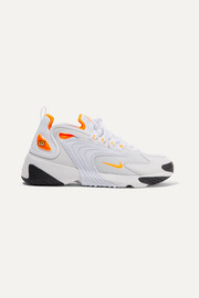 Zoom 2K neon-trimmed leather and mesh sneakers