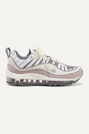 Nike Air Max 98 mesh, faux leather and suede sneakers