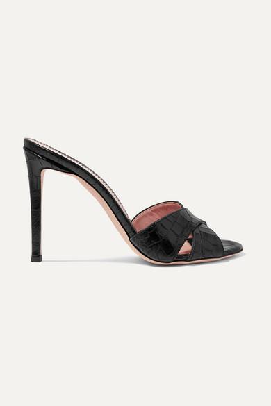 Giuseppe Zanotti Mules Croc-effect leather mules