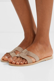 Ancient Greek Sandals Desmos cutout nubuck slides