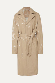 Trench-coat en PU verni