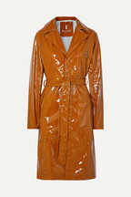a82549c2a2e27e Rains Glossed-PU trench coat