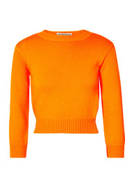 Neon open-back knitted sweater