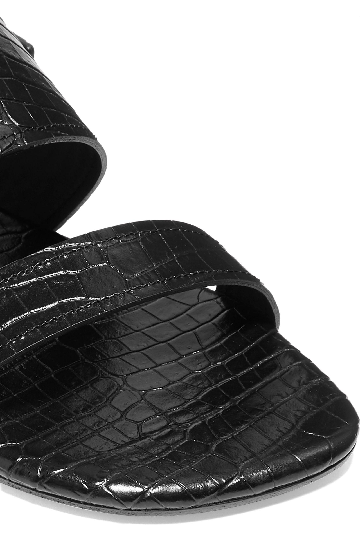 Dries Van Noten Croc-effect leather slingback sandals