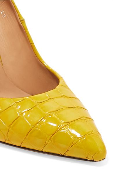Dries Van Noten Pumps Croc-effect patent-leather pumps