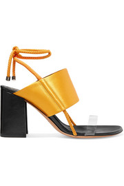 Dries Van Noten Satin and PVC sandals