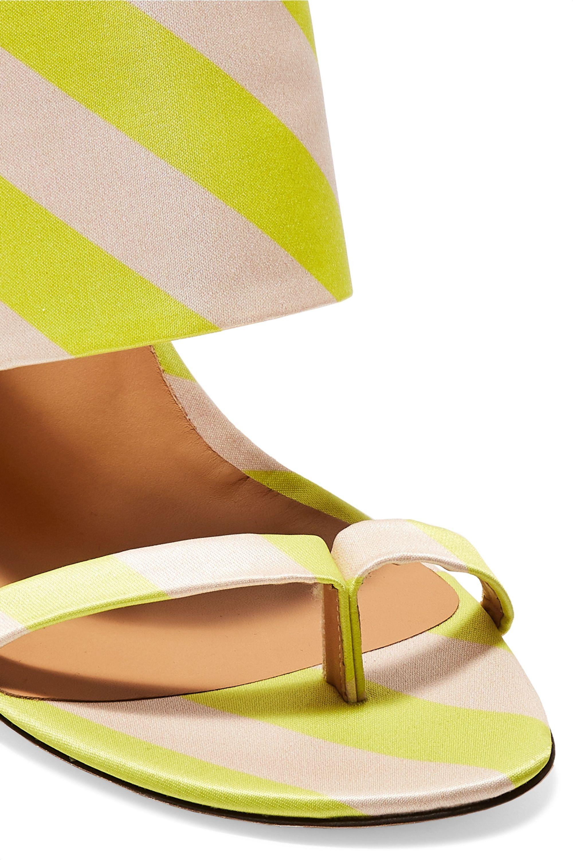 Dries Van Noten Striped satin-twill sandals