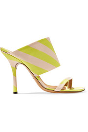Dries Van Noten Striped satin-twill sandals
