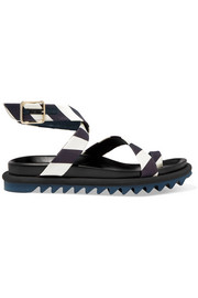 Dries Van Noten Striped satin sandals