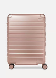Medium aluminum suitcase