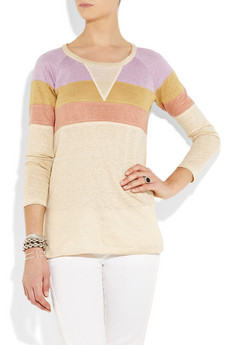 Isabel Marant | Brian color-block linen sweater | NET-A-PORTER.COM from net-a-porter.com