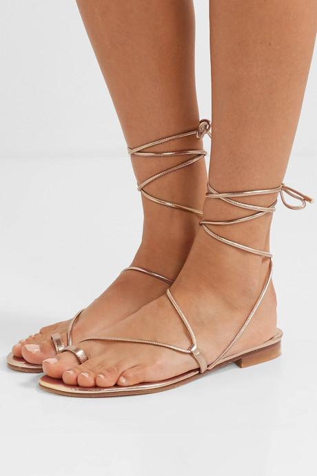 Susan metallic leather sandals