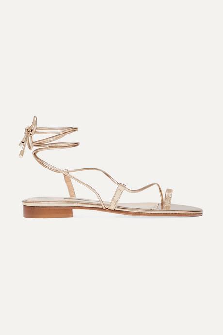 Gold Susan metallic leather sandals   Emme Parsons Q5Mvge