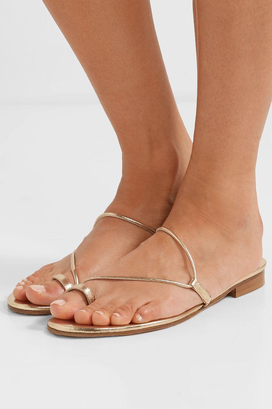 Emme Parsons Susan metallic leather sandals