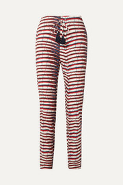 Figue Manali printed cotton-poplin straight-leg pants