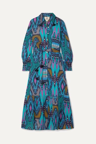 Figue Beachwear Indiana tasseled printed cotton midi dress