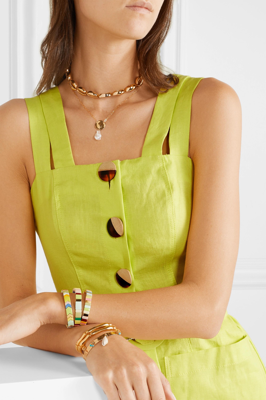 Roxanne Assoulin Rainbow Lite set of three enamel and gold-tone bracelets