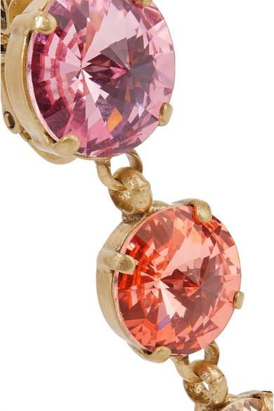 Roxanne Oulin Drip Drop Gold Tone Swarovski Crystal