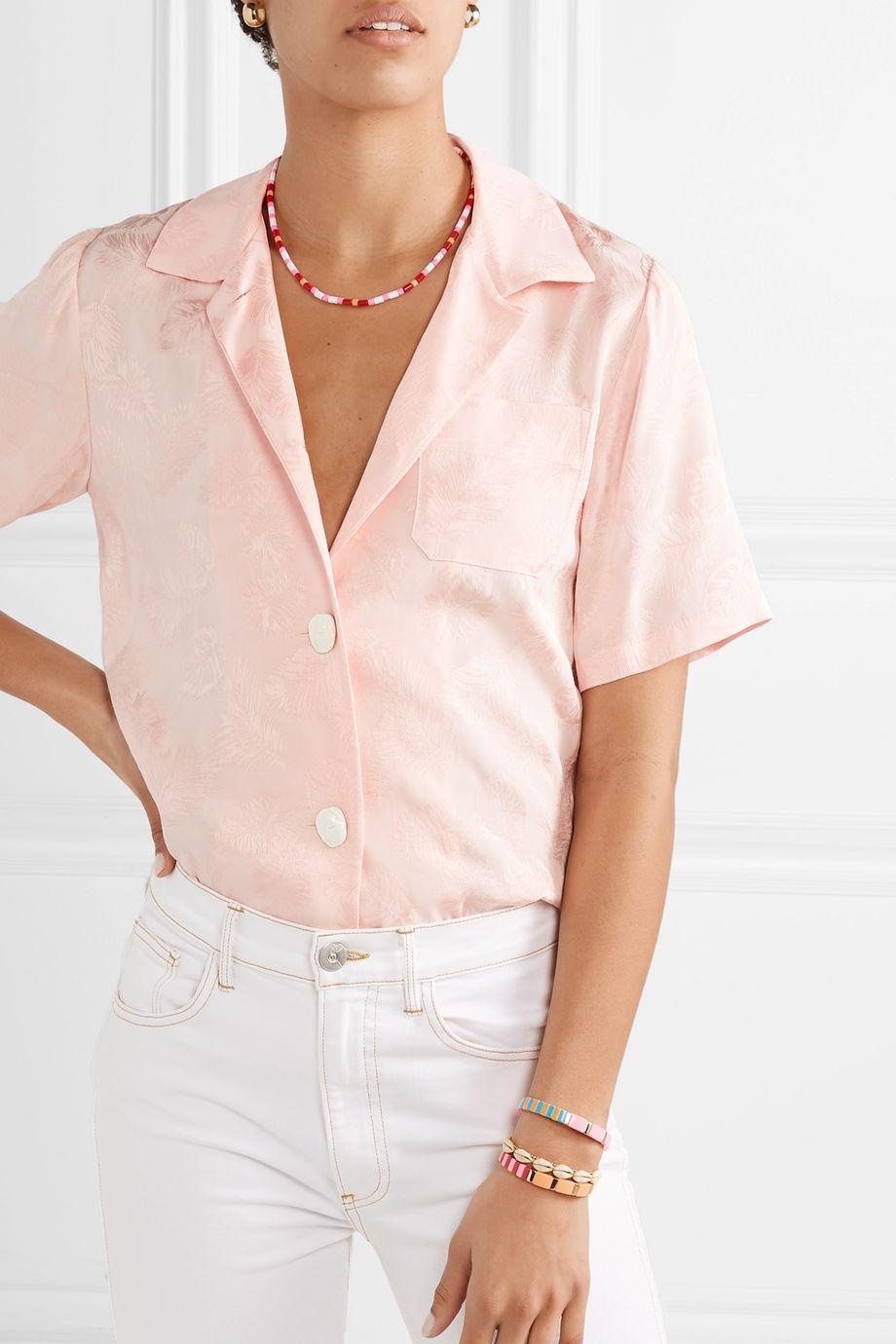 Roxanne Assoulin Hibiscus enamel necklace